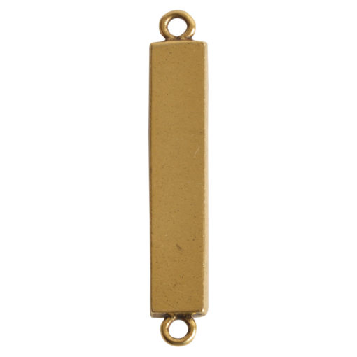 Itsy Link Double Loop RectangleAntique Gold