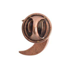 Lapel Pin Mini Crescent MoonAntique Copper
