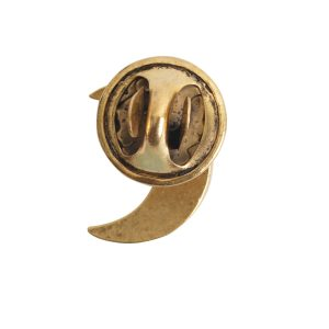 Lapel Pin Mini Crescent MoonAntique Gold