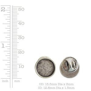Lapel Pin Mini Circle<br>Antique Gold