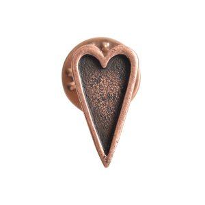 Lapel Pin Mini Heart<br>Antique Copper