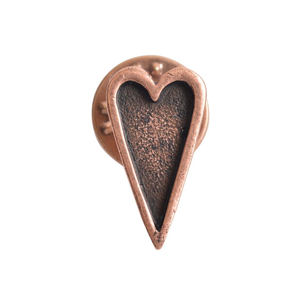 Lapel Pin Mini HeartAntique Copper