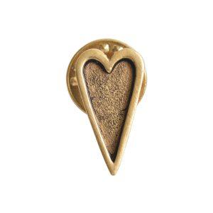 Lapel Pin Mini HeartAntique Gold