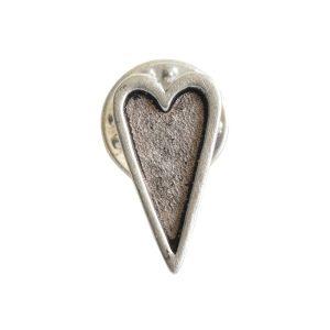 Lapel Pin Mini Heart<br>Antique Silver