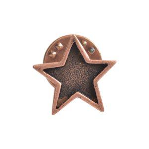 Lapel Pin Mini StarAntique Copper