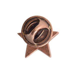 Lapel Pin Mini StarAntique Copper