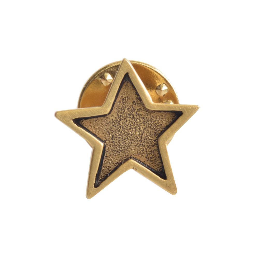 Lapel Pin Mini StarAntique Gold