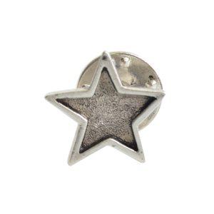 Lapel Pin Mini StarAntique Silver