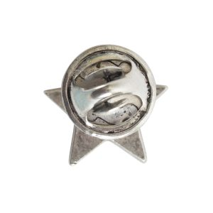 Lapel Pin Mini StarAntique Silver