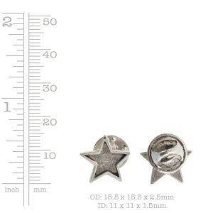 Lapel Pin Mini Star<br>Antique Copper