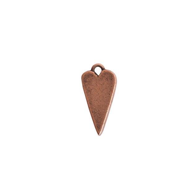 Mini Pendant Heart Single LoopAntique Copper