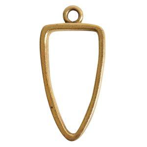 Open Pendant Arrowhead Single LoopAntique Gold