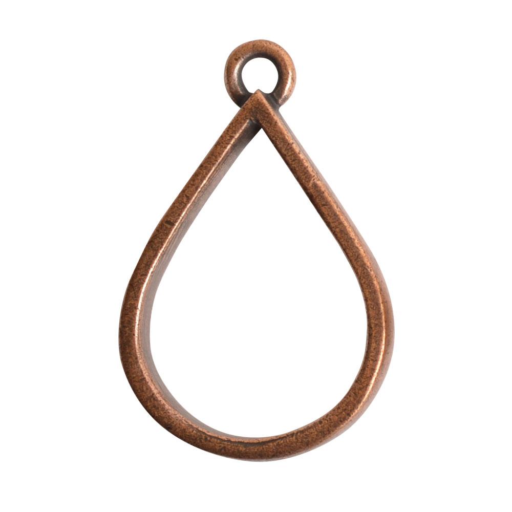 Open Pendant Drop Single LoopAntique Copper