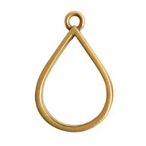 Open Pendant Drop Single LoopAntique Gold