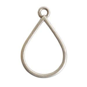 Open Pendant Drop Single LoopAntique Silver