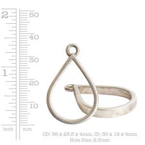 Open Pendant Drop Single Loop<br>Antique Copper