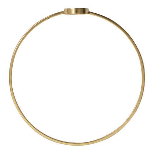 Bangle Bracelet Open Frame Mini CircleAntique Gold