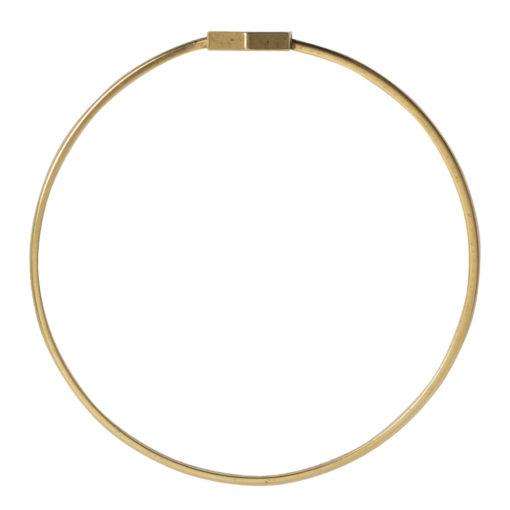 Bangle Bracelet Open Frame Mini HexagonAntique Gold