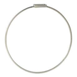 Bangle Bracelet Open Frame Mini SquareAntique Silver
