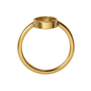Ring Open Frame Itsy Circle Size 6Antique Gold