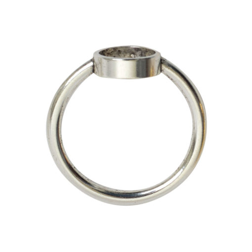 Ring Open Frame Itsy Circle Size 6Antique Silver
