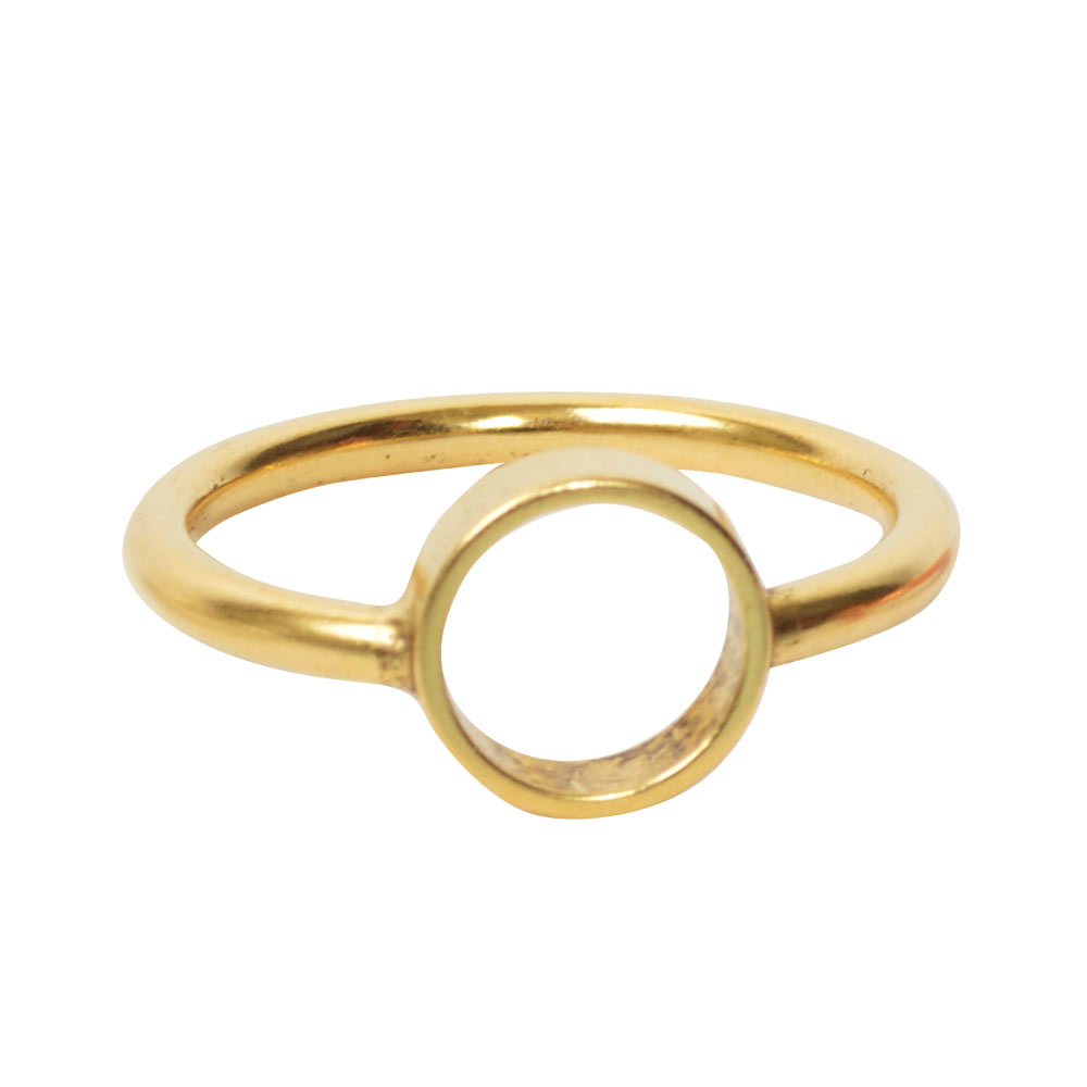Ring Open Frame Itsy Circle Size 7Antique Gold