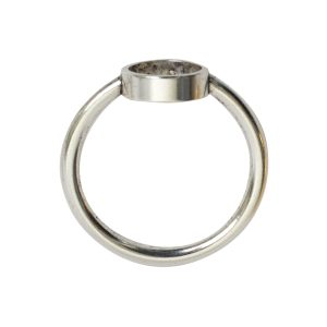 Ring Open Frame Itsy Circle Size 8Antique Silver