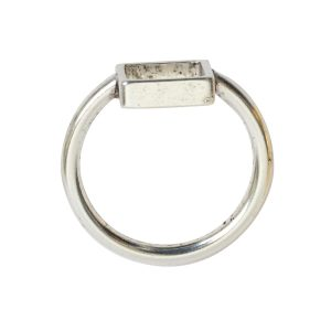 Ring Open Frame Itsy Square Size 6Antique Silver