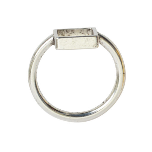 Ring Open Frame Itsy Square Size 7Antique Silver