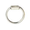 Ring Open Frame Itsy Square Size 8<br>Antique Silver