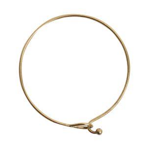 Bangle Bracelet Hook Closure BallAntique Gold