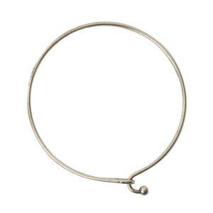 Bangle Bracelet Hook Closure BallAntique Silver