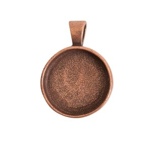 Large Pendant Bail CircleAntique Copper