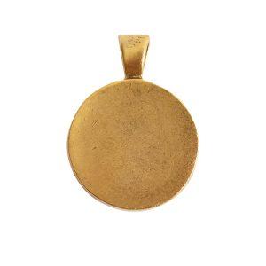 Large Pendant Bail CircleAntique Gold