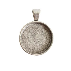 Large Pendant Bail CircleAntique Silver