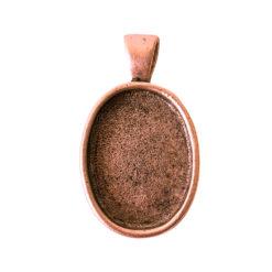 Large Pendant Bail OvalAntique Copper