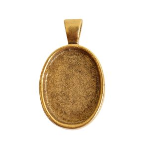 Large Pendant Bail OvalAntique Gold