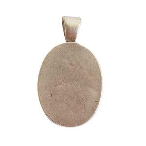 Large Pendant Bail OvalAntique Silver