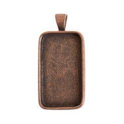 Large Pendant Bail RectangleAntique Copper