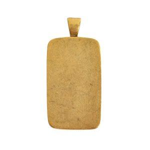 Large Pendant Bail RectangleAntique Gold