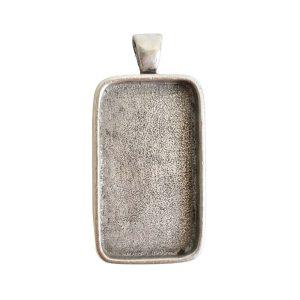 Large Pendant Bail RectangleAntique Silver