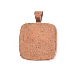 Large Pendant Bail SquareAntique Copper