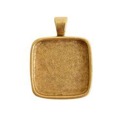 Large Pendant Bail SquareAntique Gold