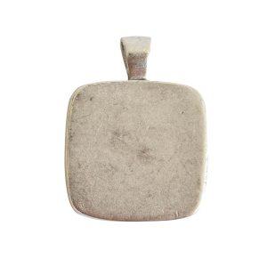 Large Pendant Bail SquareAntique Silver