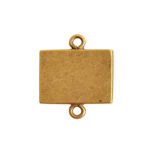 Mini Link Double Loop Rectangle HorizontalAntique Gold