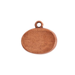 Mini Link Single Loop Oval HorizontalAntique Copper