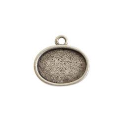 Mini Link Single Loop Oval HorizontalAntique Silver