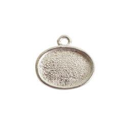 Mini Link Single Loop Oval HorizontalSterling Silver Plate