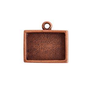 Mini Link Single Loop Rectangle HorizontalAntique Copper