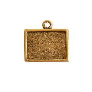 Mini Link Single Loop Rectangle HorizontalAntique Gold